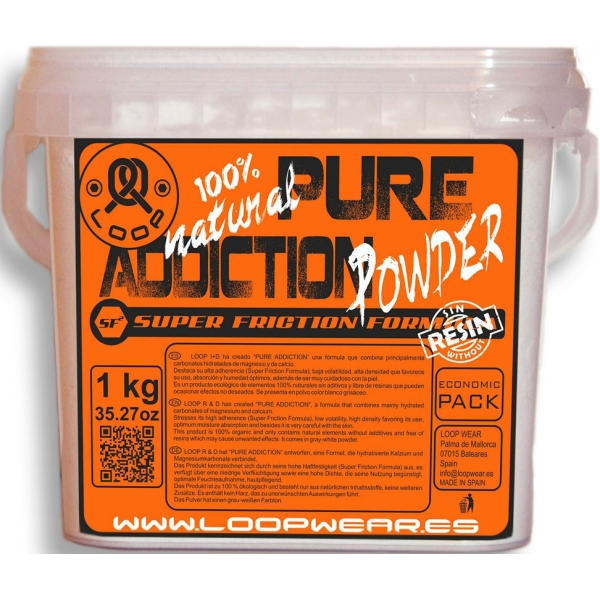 Magnesio Pure Addiction Powder 1 kg (4 Unidades) Loop Wear