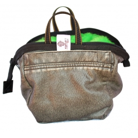 Chalk Bag Green Leather (Boulder) Momou